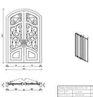 Кованые железные ворота безопасности передней двери стеклянные и кованые входные двери