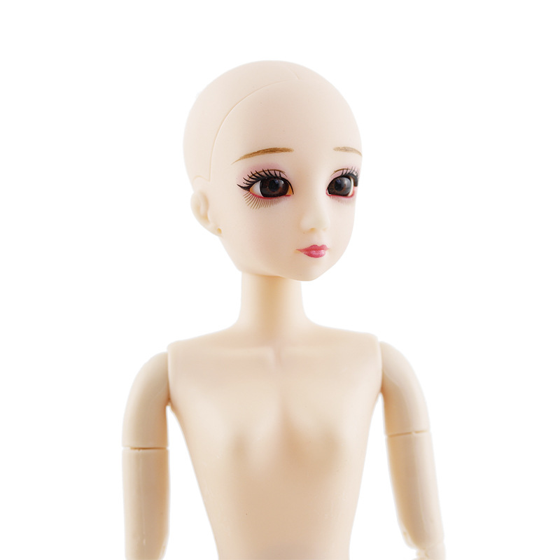 New 18 Moveable Jointed 30cm 1/6 Dolls Toys Naked Nude Doll Bareheaded Body Female Fashion DIY Make Up Dolls Toy For Girls