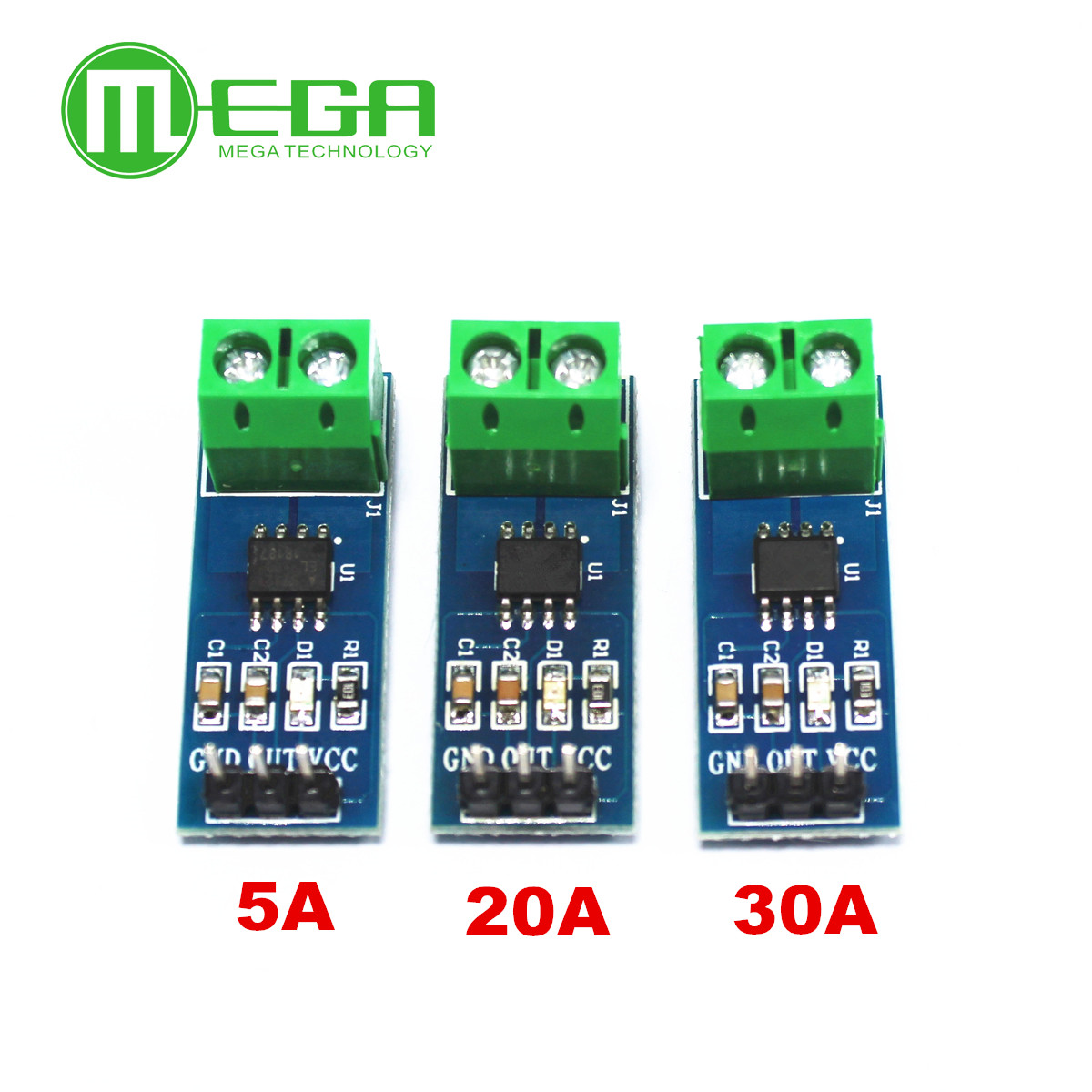<font><b>10PCS</b></font> 5A 20A 30A Hall Current Sensor Module <font><b>ACS712</b></font> model for arduino image