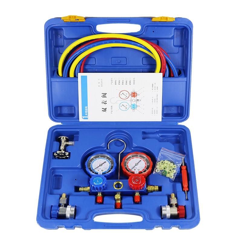 Auto Condizionatore D'aria R134A Collettore Calibri Freon Refrigerante + Tricolore Fluoridated Tubo Tubi + 2 pz QC-12 Attacchi Rapidi + opener