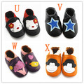 moccasins soft moccs baby shoes Baby leather shoe Pre-Walkers nubuck leather non-slip free shipping genuine leather 30 pcs/lot