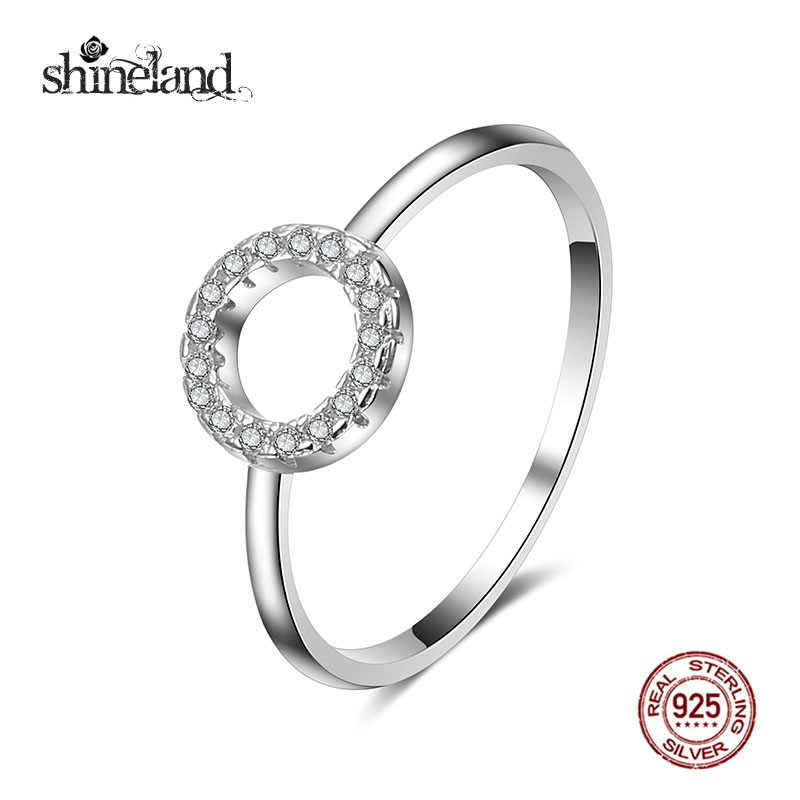 Shineland Fashion Shine Round Hoop Rings 925 Sterling ...
