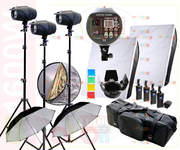 1600W Strobe Studio Flash Light Kit de iluminat pentru fotografiere - Camera și fotografia