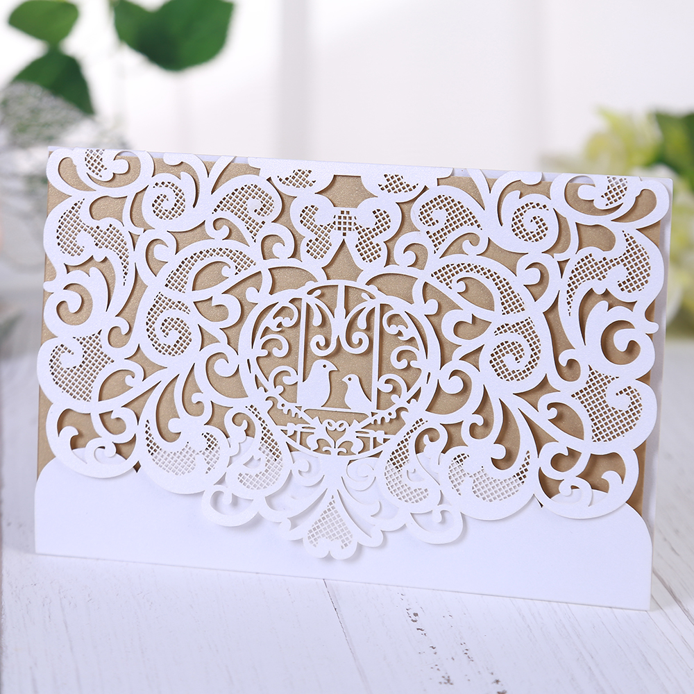 Segnaposto Matrimonio Aliexpress.Eleva Lovely Bird Decoration Hollow Out Wedding Table Cards Mr