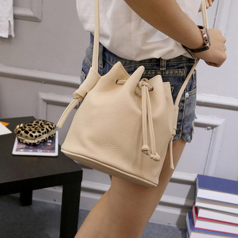 2018 New Small Women Crossbody Bags Candy Colors Female Bucket Messenger Shoulder Bags Mini Ladies Cross Body Handbags Bolsa 2017 new female genuine leather handbags first layer of cowhide fashion simple women shoulder messenger bags bucket bags