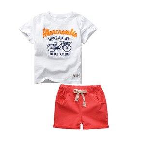 Image 4 - GODODOMAOYI 2019 sıcak satış marka erkek giyim çocuk yaz erkek giysileri karikatür çocuk Boy giyim seti t shirt + pantolon pamuk