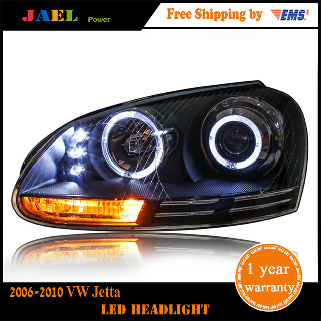 Jael Head Lamp Vw Jetta Headlights 2006 2010 Mk5 Led Headlight Drl Bi Xenon Lens High Low Beam Parking Fog