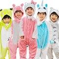Niños de Los Cabritos del Mono de Halloween Carnaval Año Nuevo Disfraces de Dibujos Animados Pikachu Dinosaurio Onesie Pijamas Minion Gatito Tigre Puntada