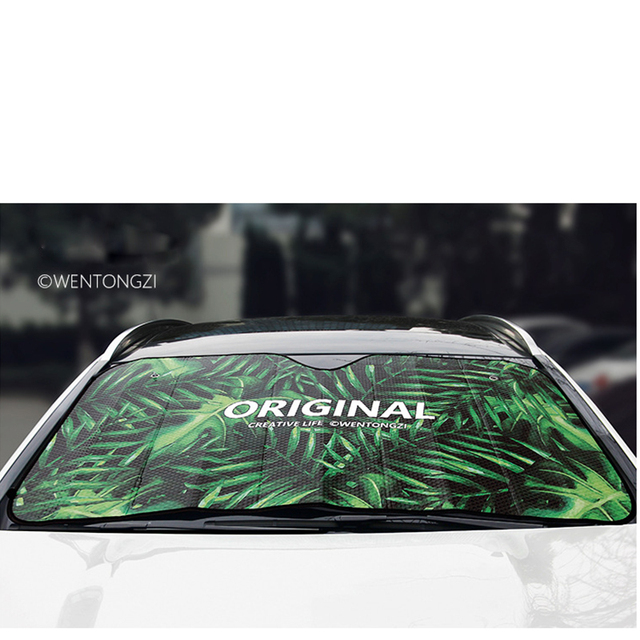 Car Window Windshield Sunshade Covers For Ordinary Car Reflective Foil  Anti-UV Curtain Front Colorful And Cool Sucker Fixed 81d1c62118f