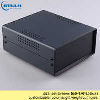 Electrical junction instrument box Iron box for electronics project housing diy iron control switch case 170*150*70mm