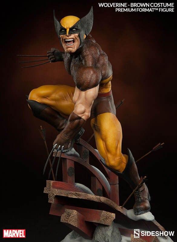 Статуя Марвел Росомаха Логан ПВХ фигурка Коллекционная модель игрушки 24 см