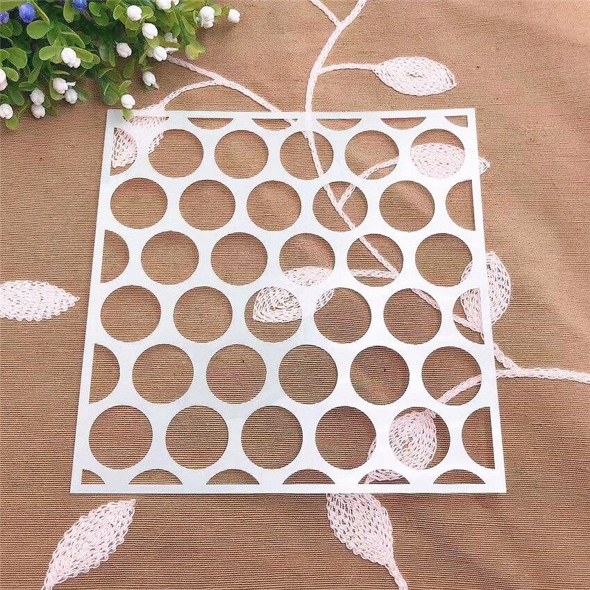 Compass Scrapbook Stencils Spray Plastic Mold Shield DIY Cake Hollow Embellishment Printing Lace Ruler Valentine