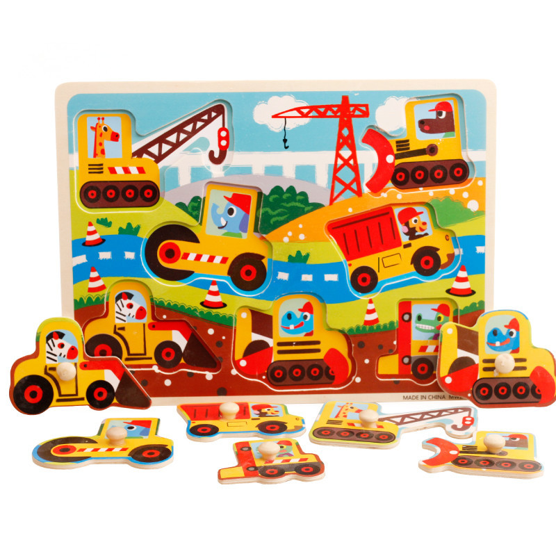 33cm Kids Early Educational Toys Baby Hand Grasp Wooden Puzzle Alphabet Digit Letters Learning Education Child Wood Jigsaw Toy hand grasp knob pegged puzzle wooden quality animals characters letter cognitive board children recognization toys