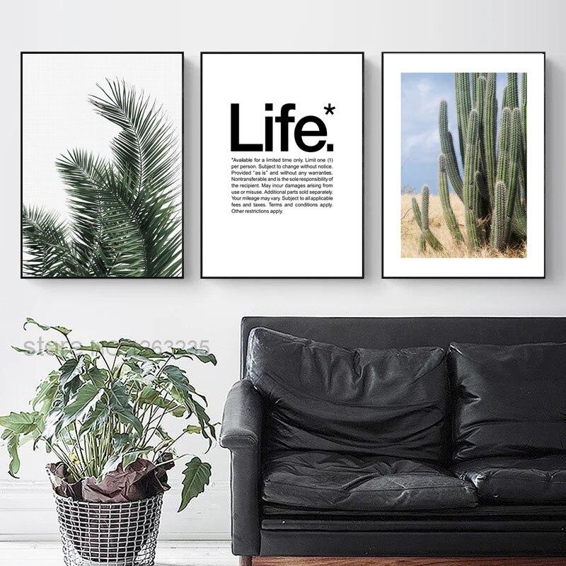 Cactus Desert Scenery Nordic Poster Plantas Carteles e impresiones - Decoración del hogar - foto 4
