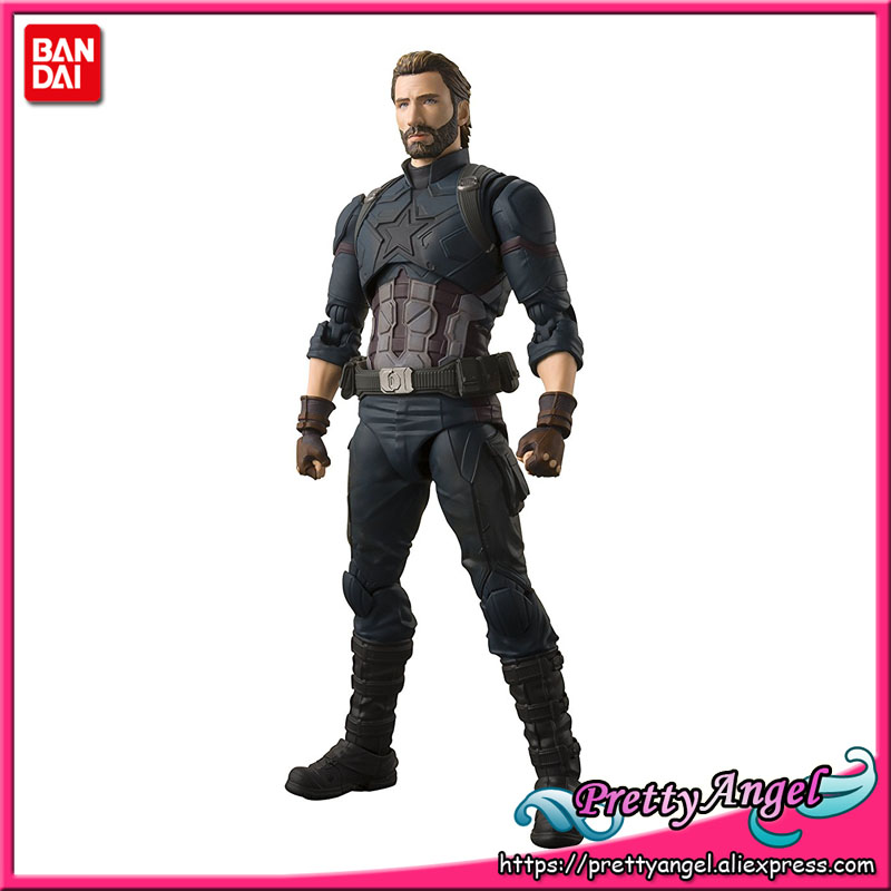 купить PrettyAngel - Genuine Bandai Tamashii Nations S.H. Figuarts Avengers: Infinity War Captain America Action Figure по цене 4342.56 рублей