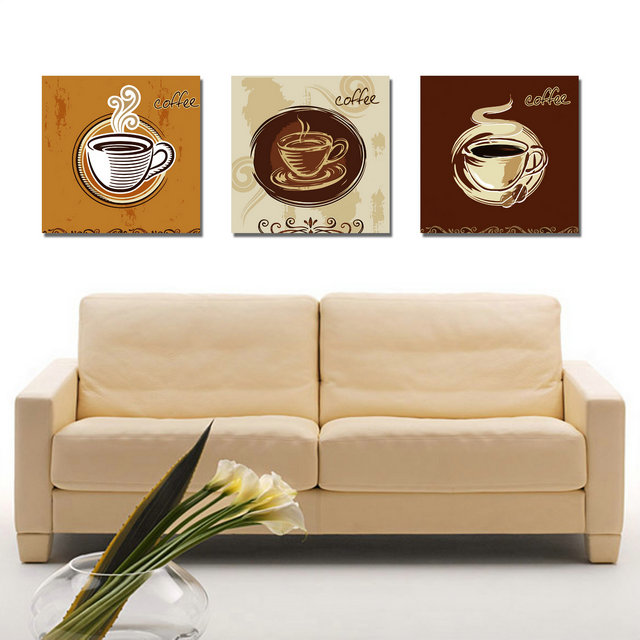 Print Poster Canvas Wall Art Hot Coffee Cuadros Decoration Art Oil Painting  Modular Pictures For Kitchen Art (no Frame)3pcs In Painting U0026 Calligraphy  From ...
