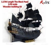 RealTS Новая версия Классическая деревянная парусная лодка 1/34 черной жемчужины пираты карибского моря wood model kit с инструкция на английском