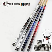 New POINOS Brand SR Straight Billiard Pool Cues Stick Kit High Quality 11.5mm/10mm Tips Black/White/Blue/Red Colors China 2019