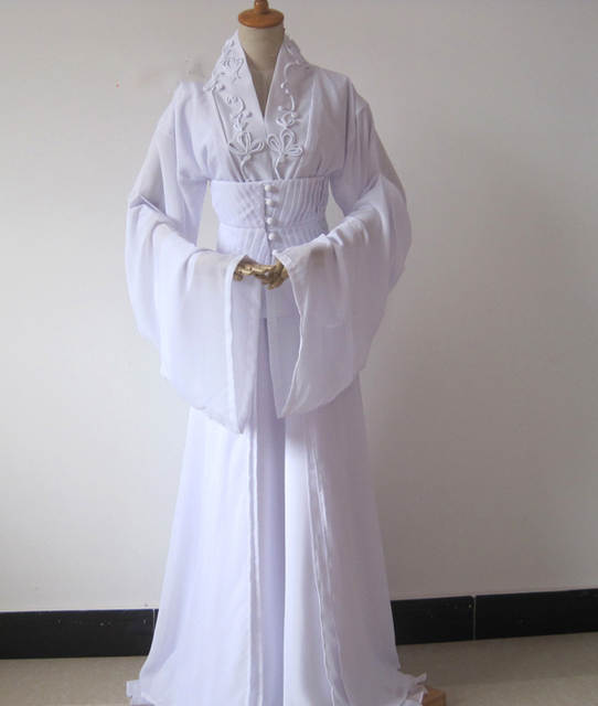 746bff47dec05 US $215.0 |Liu YiFei 5 Designs White Dragon Fairy Costume for TV Play The  Condor Heroes Xiao LongNv Drama Costume Hanfu -in Chinese Folk Dance from  ...