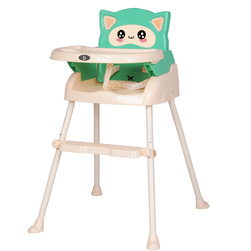 Protable Baby High Chair Booster Seat Multi-function Foldable Adjustable Kids Chair Feeding Dining Table Chair Seating baby highchair foldable high chair for kids adjustable feeding chair with pu leather cushion dining table with wheels