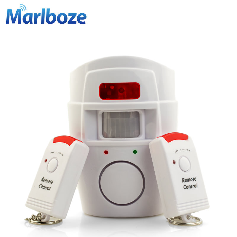 2 Remote Controller Wireless Home Security PIR MP Alert Infrared Sensor Alarm system Anti-theft Motion Detector Alarm 105DB(China (Mainland))