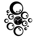 2016 новый горячая распродажа 3d настенные часы украшений кварцевые геометрический diy кристалл зеркало искусство дети современный дизайн часы бесплатная доставка