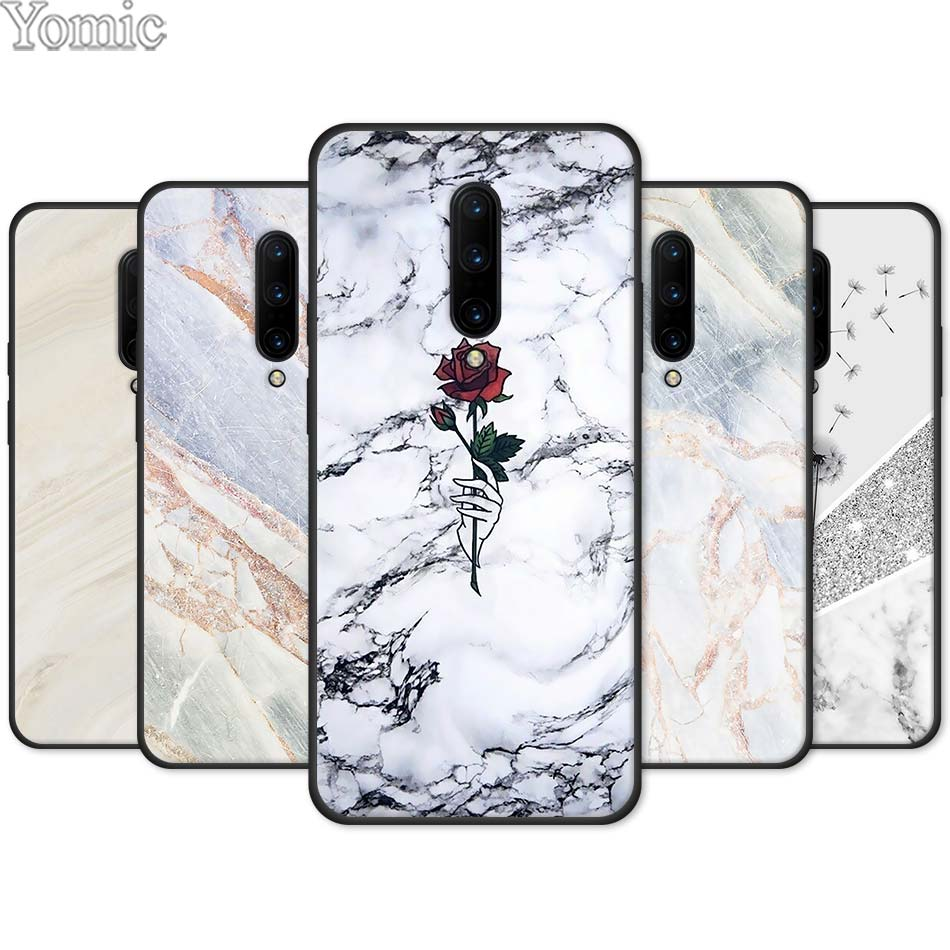 Newest Fashion Marble Silicone Phone Case for font b Oneplus b font font b 7 b