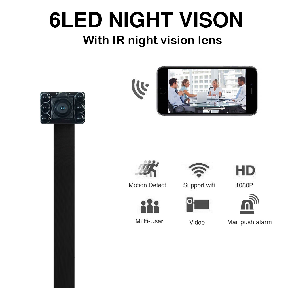 где купить HD 1080P Mini Wireless WIFI Camera Infrared Night Vision Remote Monitoring Support TF Card MAX 128G IP Camera With battery дешево