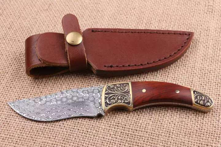 где купить Very sharp High-grade Damascus knife Basic Damascus steel knife outdoor boutique gift collection straight knife cutting tools по лучшей цене