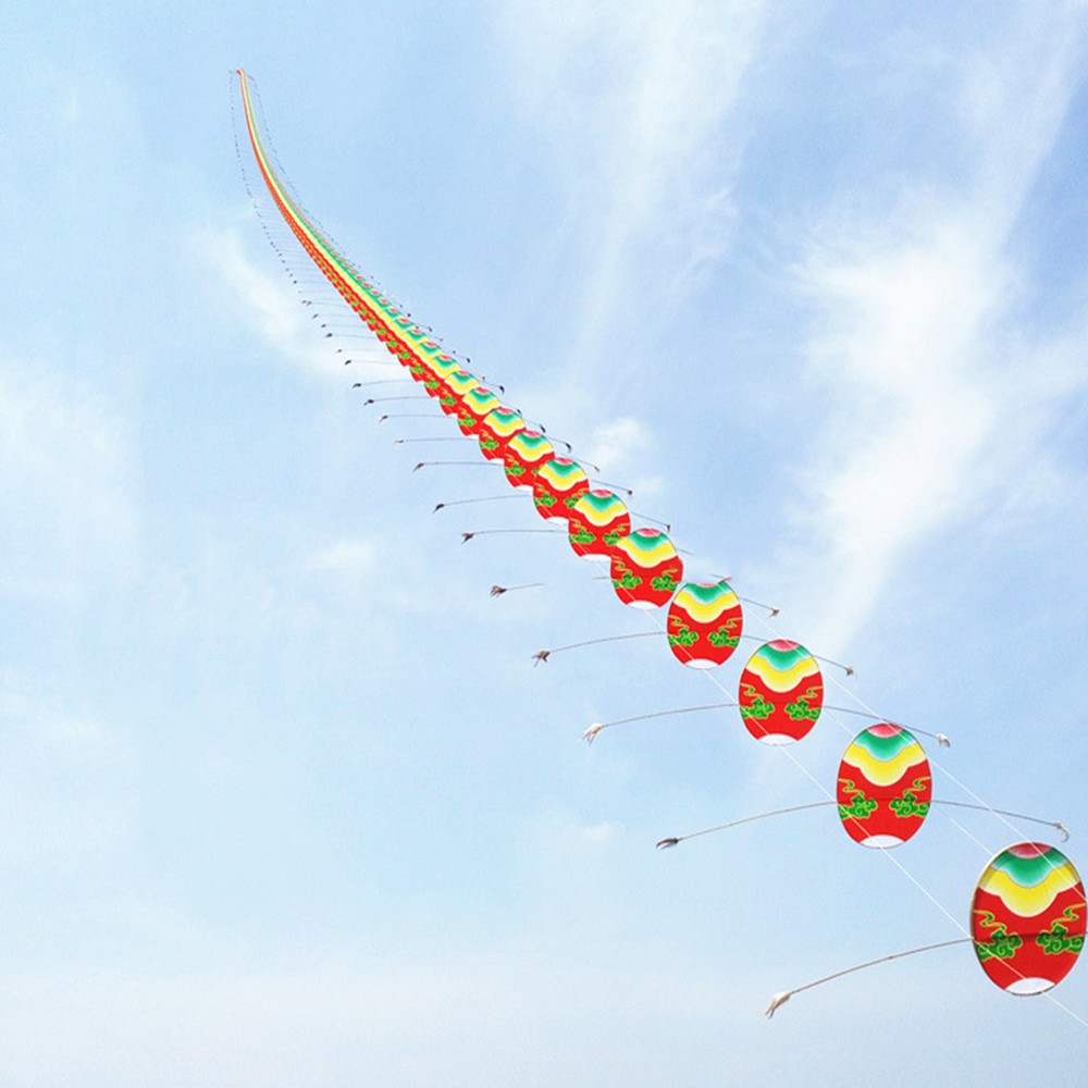 Artisanat traditionnel chinois tête de Dragon mille-pattes enfants cerf-volant sept mètres de Long en plein air parent-enfant - 5