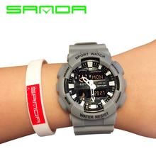 SANDA Men's Sports Wrist Watch Alarm Military 30M Waterproof