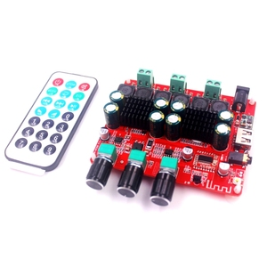 Image 2 - HiFi TPA3116D2 4.2 Bluetooth 2.1 ערוץ סטריאו דיגיטלי אודיו כוח סאב מגברי לוח 50W * 2 + 100W FM רדיו USB Mp3 לשחק