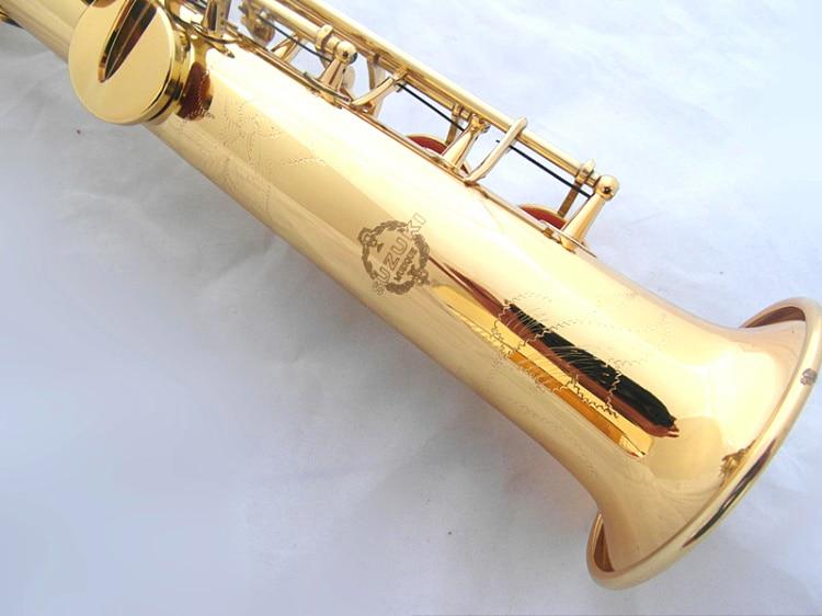 Soprano saxophone Bb New pattern High quality golden soprano saxofone Musical Instruments Professional Sax manufacturer free shipping new high quality tenor saxophone france r54 b flat black gold nickel professional musical instruments