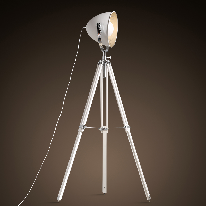 illumination floor lamp loft Nordic Industrial retro minimalist creative studio floor light three tripod white lamp tripod ZA710