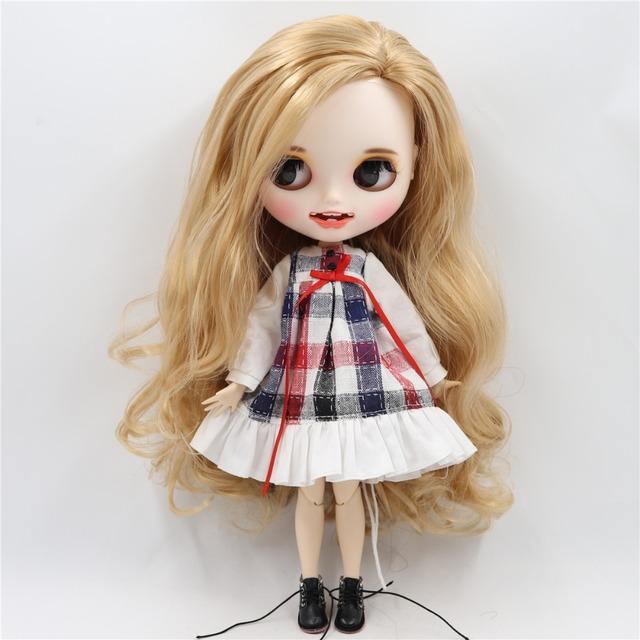 Custom Neo Blythe Doll Matte Face Open Mouth