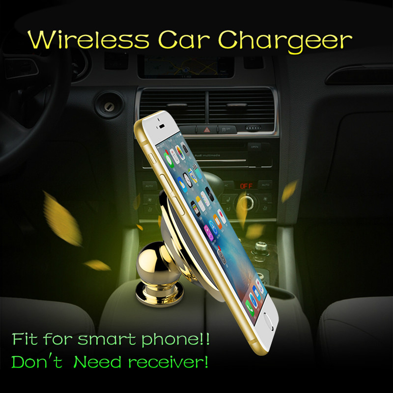 Special For Land Rover Range Rover Sport  2014 - 2017 Auto Smart Phone Car Magnetic Wireless Charger Magnetic Holder+ Container