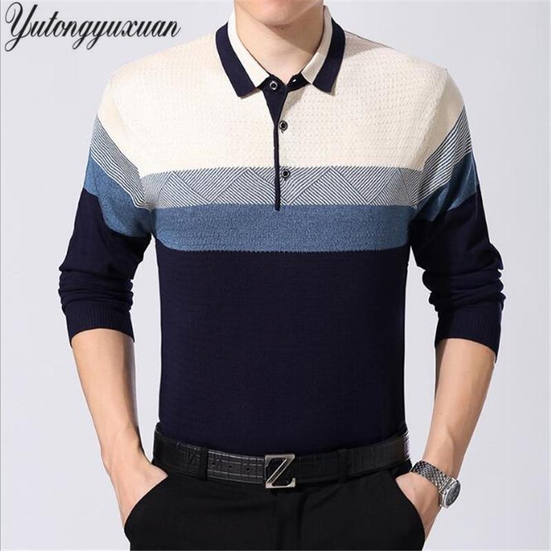 29 Colors Fall 2017 Men's Polo Shirt Polo Shirts Long Sleeve Brands Polo Shirt Cotton Camisas Polo Boys Plus Size 3XL