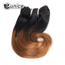 Короткие волнистые волосы eunice с эффектом омбре наращивание