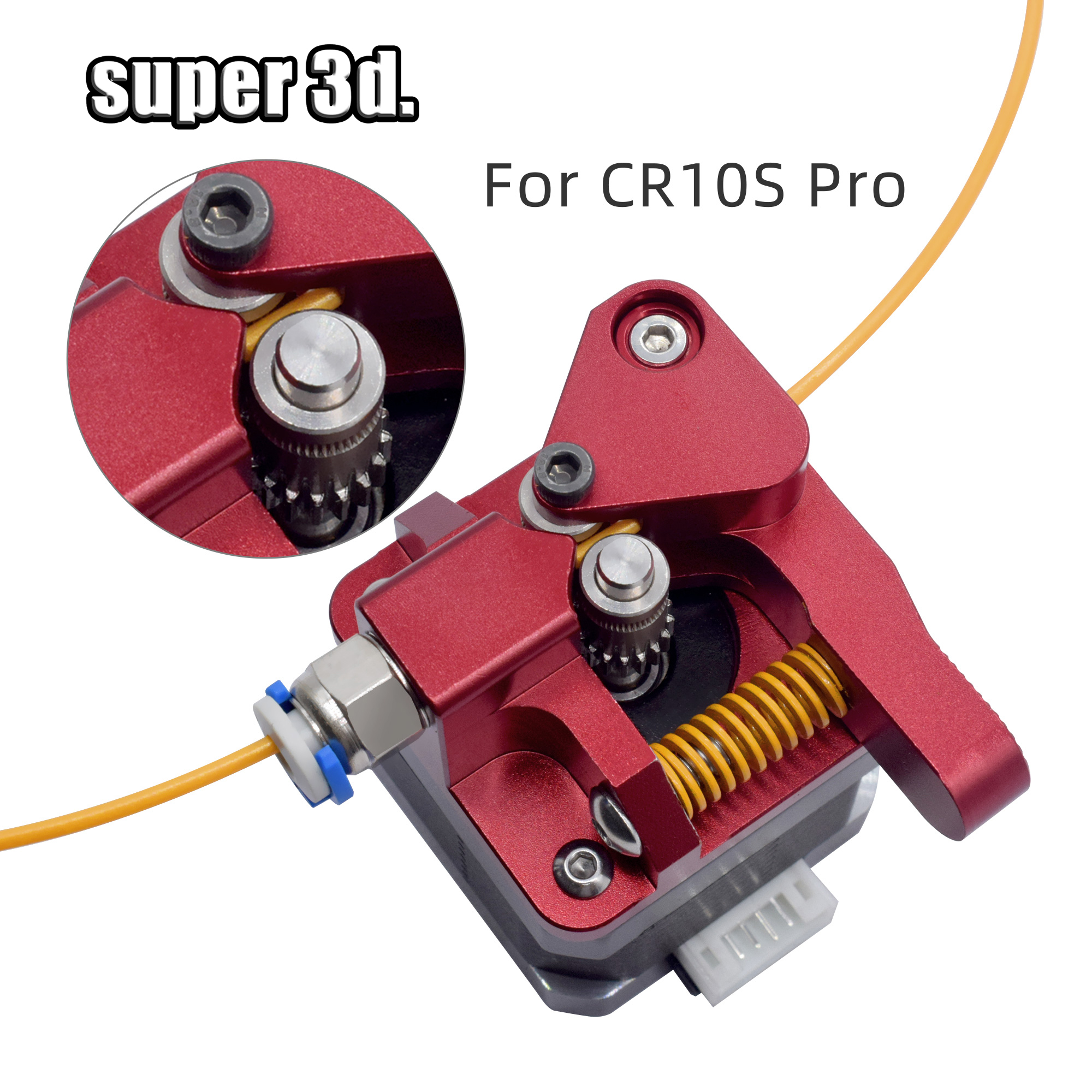Cr10 Aluminum Upgrade Dual Gear Mk8 Extruder Kit For CR10S PRO RepRap Prusa I3 1.75mm 3d Parts Drive Feed Double Pulley Extruder(China)