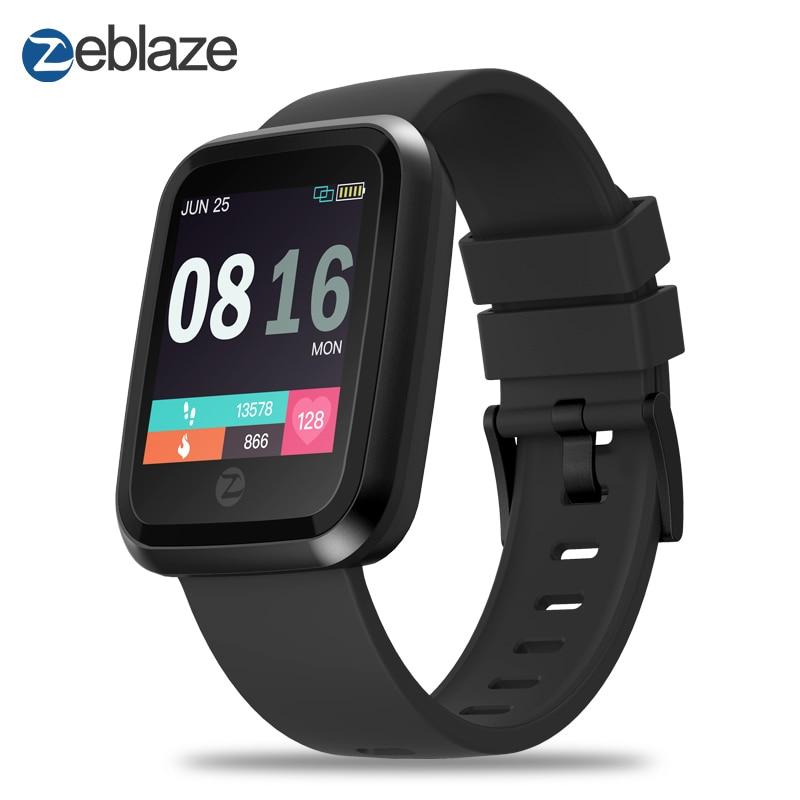 Nuovo Zeblaze di Cristallo 2 Smartwatch IP67 Impermeabile Indossabile Dispositivo Monitor di Frequenza Cardiaca Display A Colori Intelligente Orologio Per Android IOS