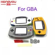 Yedek Gri Konut Shell Kılıf w/Siyah Düğmeler Nintendo Gameboy Advance GBA için Süper famicom Denetleyici