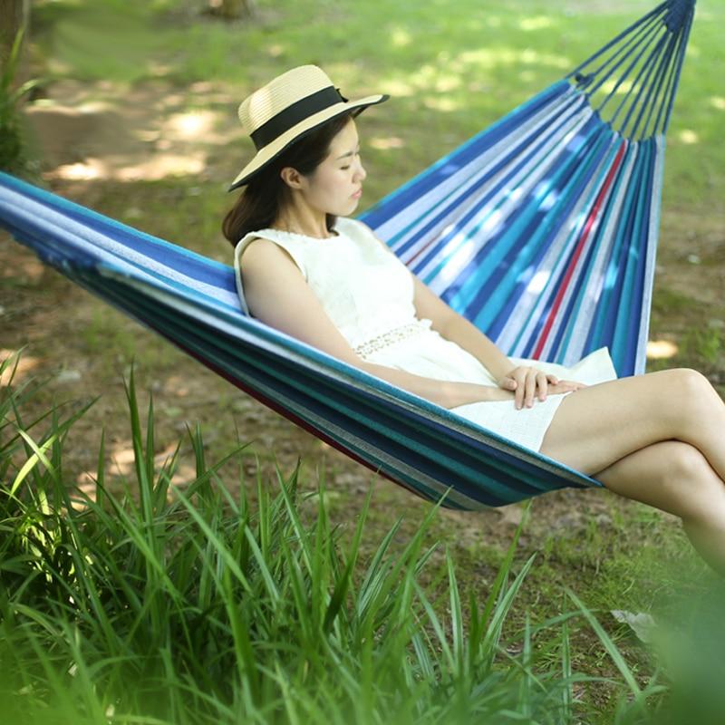 Euro Standard Single Canvas Hammock Garden Portable Travel Sleeping Hamak Hamaca Rede Patio Hamac Outdoor Furniture 200*80cm