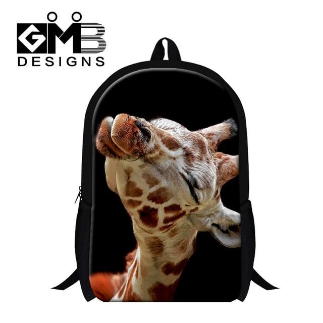 Dispalang Animal Children School Bag For Teenagers Girls Backpack Giraffe Print Kids Schoolbag Children Book Bag Mochila Escolar