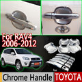 For Toyota Rav4 2006-2012 Chrome Door Handle Covers Trim for 5 Door Accessories Stickers Car Styling 2007 2008 2009 2010 2012