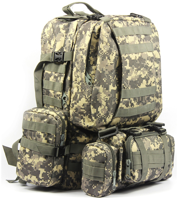 600D Army fans outdoor tactical combination backpacking backpack shoulder bag large bag 50L ACU маршак с самуил яковлевич маршак стихи