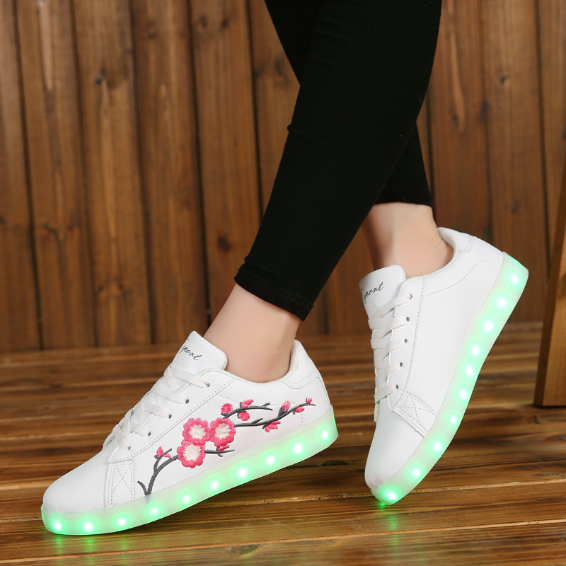 glowing sneakers LED slippers usb charging basket led kid shoes with light up luminous sneakers shoes for girls tenis feminino fashion bright solid usb led light up kid shoes breathable hook
