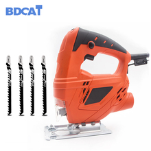 цены BDCAT 710W Electric Jigsaw Woodworking Electric Jigsaw Metallic Timber Plasterboard Cutting Tool with 4 Saw Blades