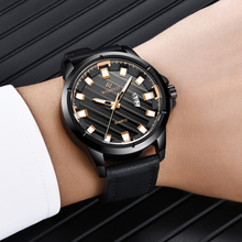 WISHDOIT Top Brand New Creative Mens Watches 2018 Leather Bracelet Quartz Watch Waterproof Male Clock Relogio Masculino