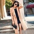 Mulheres Oversize Casaco De Lã 2016 Outono Inverno Casuais RS535 Bolsos Ocasional Solto Longo Casaco De Lã Casaco Feminino