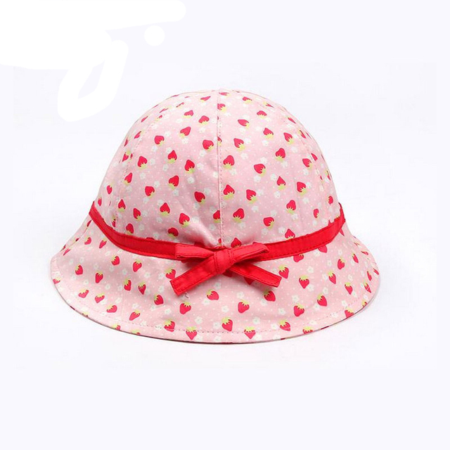 6bd7791114e Cute Strawberry Baby Caps Summer Hats For Girls Infant Sun Protection  Bucket Hat 2018 Sunscreen Kids Cap Spring Baby Accessories